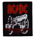 AC/DC For Those About To Rock sew-on cloth patch 80mm x 70mm (rz)